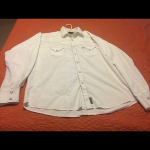Wrangler retro white pearl snap shirt